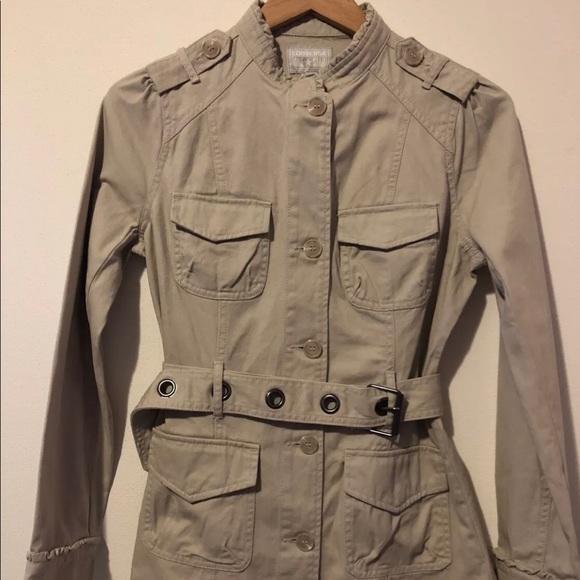 Converse Jackets   Blazers - Converse One Star Khaki Belted Jacket Small 2b6ce8ca7717